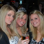 cute girls drinking at the blarney stone bar in downtown seattle
